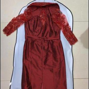Red Custom Made Dress (Imported Lace)